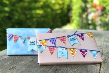 Freebie Wimpelkette: mach Dein Geschenk zu einem Highlight
